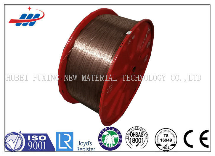 High Tensile Strength Copper Clad Steel Wire For Tyre , Copper Coated Wire