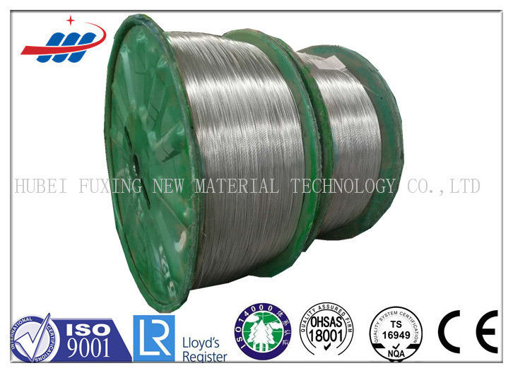 Zinc Coated Galvanized Steel Wire No Oil High Carbon Materials For Brading