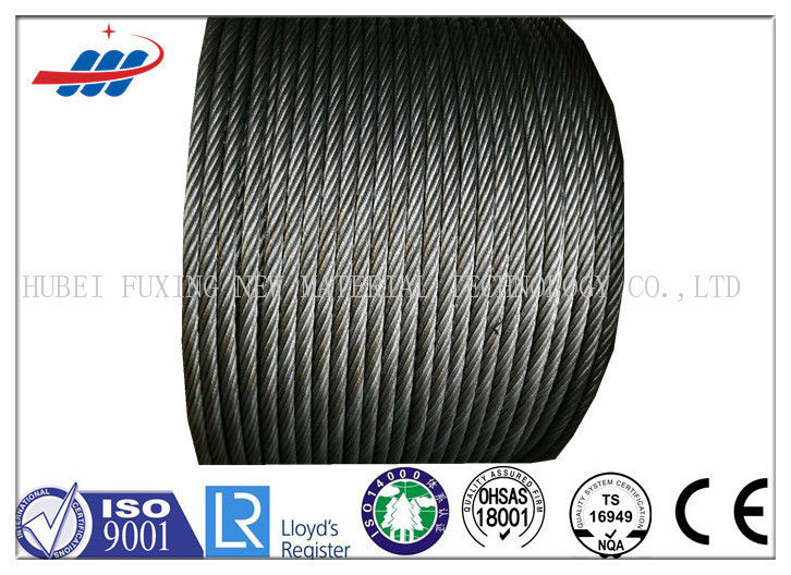 Zinc Coating Galvanized Wire Rope 36x7+IWS Hot Dipped Galvanized Wire 10m-2000m / Reel