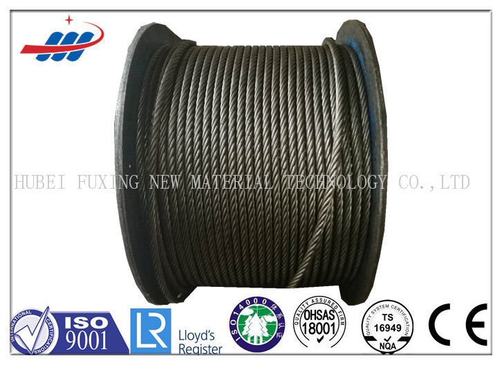 Uncoated High Carbon Steel Wire Rope Cable 6x37S+FC For Hoist / Loading