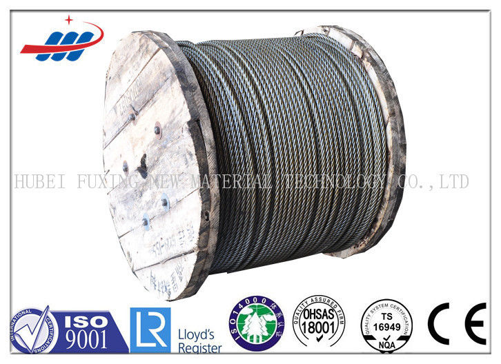 6-48mm Ungalvanized Steel Wire Rope For Elevator / Belt Conveyer 6x26SW+FC
