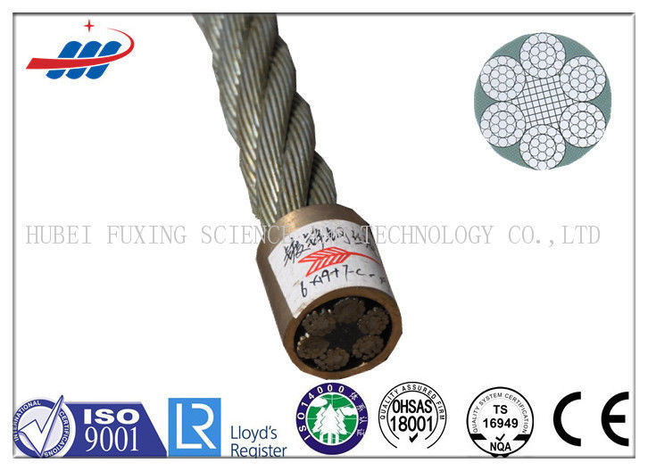 Hot Dipped Galvanized Steel Wire Rope 6x19+FC For Loading / Tugboat / Floating